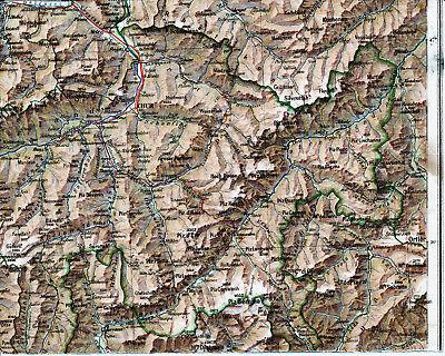 Billiger Preis Graubünden Chur Schuls Thusis 1910 Kl. Orig Teilkarte/ln Albula Maloja Poschiavo