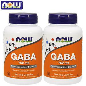 Now-Foods-GABA-100-200-Veg-Capsules-Neurotransmitter-Relaxation-Non-GMO-Kosher