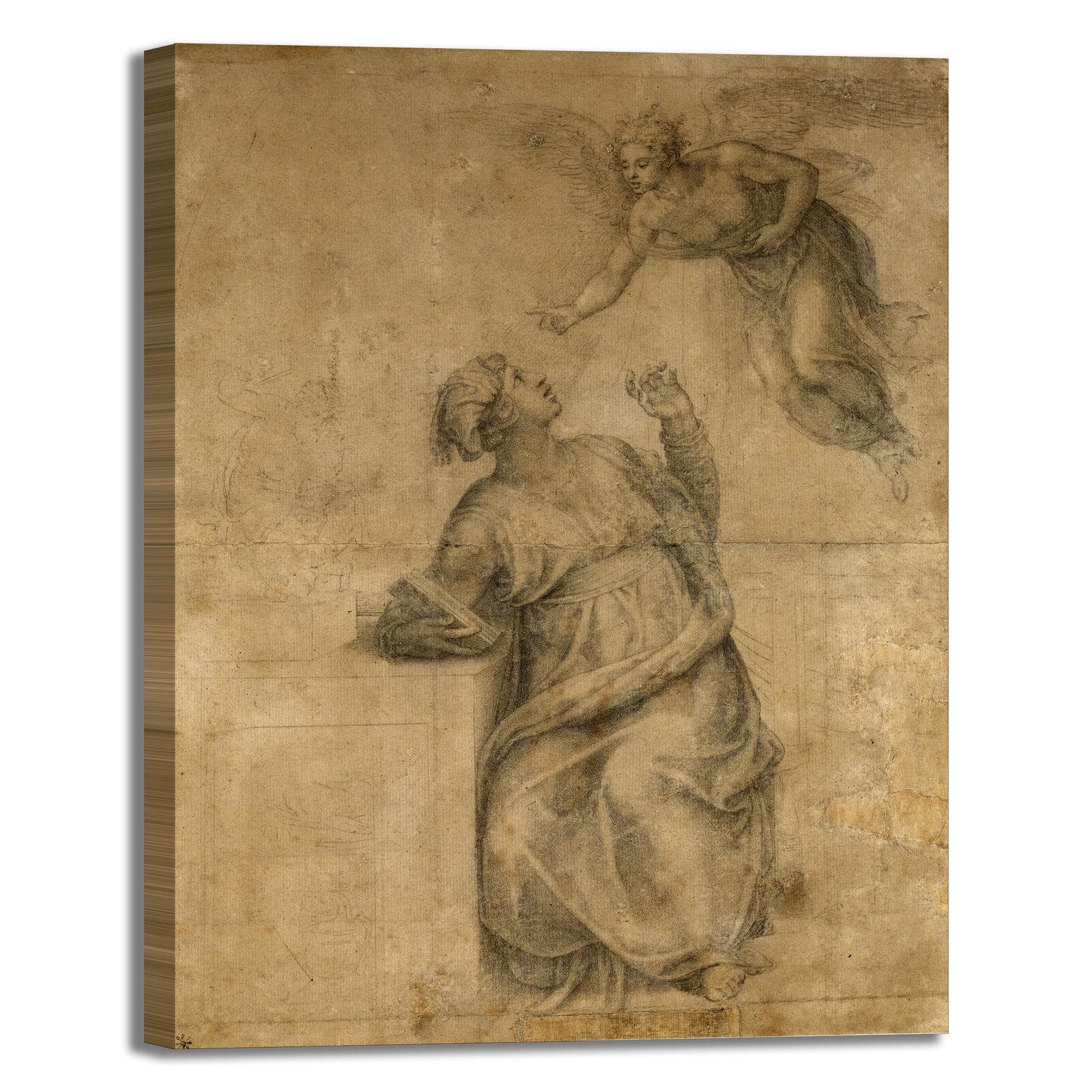 Michelangelo annunciazione stampa Vergine quadro stampa annunciazione tela dipinto telaio arRouge o casa dbd0ea
