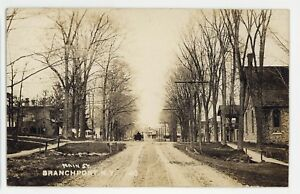 RPPC-Main-Street-View-BRANCHPORT-NY-Keuka-Lake-Yates-County-Real-Photo-Postcard