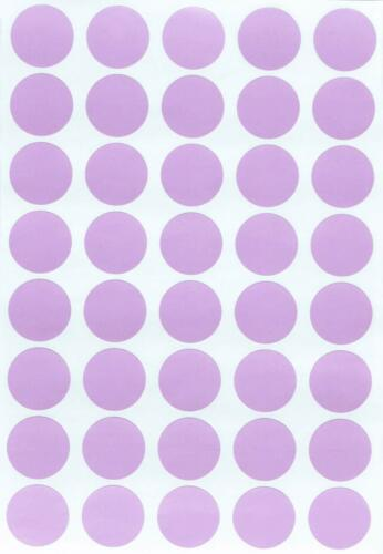 Round Pastel Color Labels 19mm Marking Stickers 3//4 Inch for Organizing Arts
