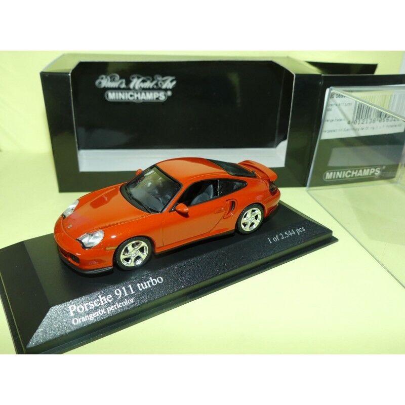PORSCHE 911 TURBO Type 996 Orange MINICHAMPS 1 43