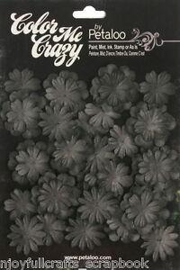 BLACK-CMC-Chalkboard-28-Mini-Delphiniums-20-30mm-2sizes-Paper-Flower-Petaloo-F