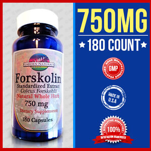 EXTREME FORSKOLIN 750MG Coleus Forskohlii Weight Loss 180 Caps Standardized 20%