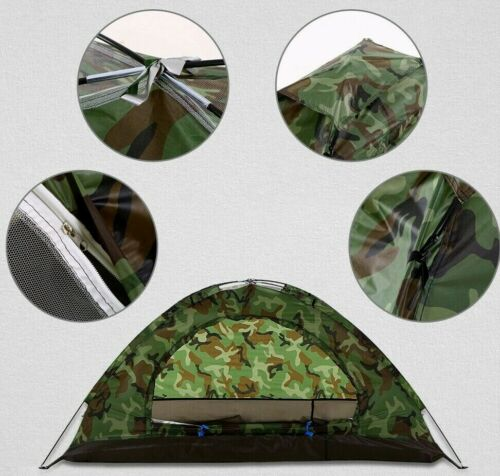 Waterproof Camping Tent 2 Persons Single Layer Carry Bag For Outdoor Picnic New