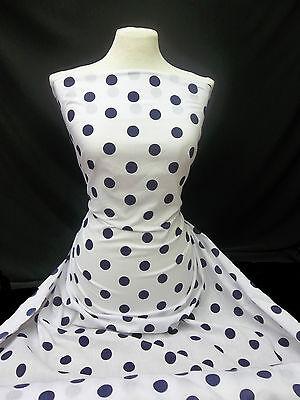 "Cotton Print Large Polka Dot Spot, Dress-making 1"" Spots Crafts Fabric Material"