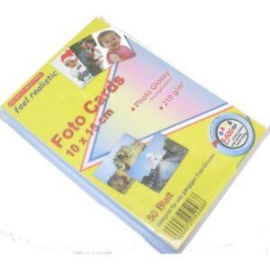 Foto-Brillante-Foto-Tarjetas-10x15-Papel-Fotografico-50-hojas-210g