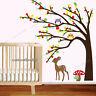 Owl Tree Deer Wall Stickers Woodland Animal Art Mural Decal Paper Nursery Decor
