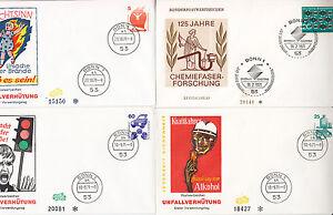 Deutsche-Bundespost-Lot-4-FDC-Unfallverthutung-1971