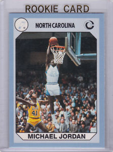 Details About Michael Jordan Ncaa College Basketball Rookie Card North Carolina Rc Bulls 23