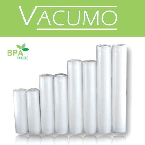 8 Rollen SPARANGEBOT VACUMO Endlosrollen Vakuumschlauch 4 verschiedene Breiten
