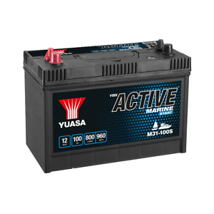 Yuasa M31 100S YBX Active Marine Start Battery 12V 100Ah 800A