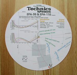 Technics-EPA-99-amp-EPA-110-Custom-Designed-Tonearm-Cartridge-Alignment-Protractor