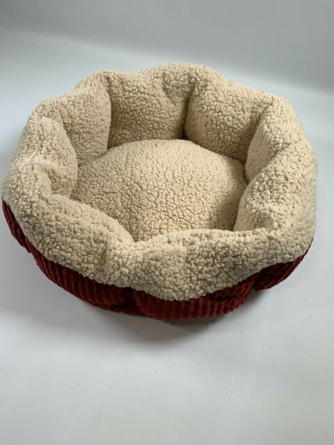 Petmate Aspen Pet Self Warming Cat And Dog Bed 19 Inch Round Spice Creme 80135 For Sale Online Ebay