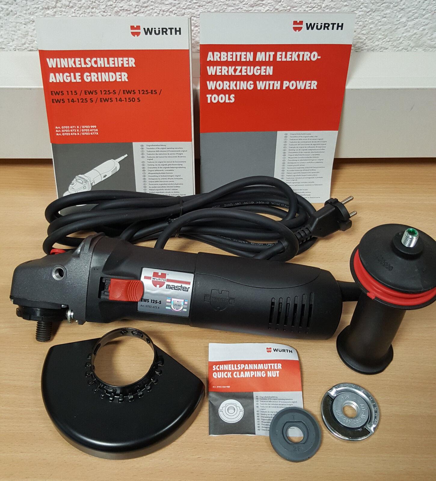 WÜRTH Winkelschleifer EWS 125-S Fixtec 07024722 NEU OVP Schleifhexe 1100W 125mm