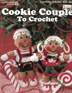 Cookie-Couple-to-Crochet-Leisure-Arts-2536-Gingerbread-Boy-amp-Girl-1994-Pattern