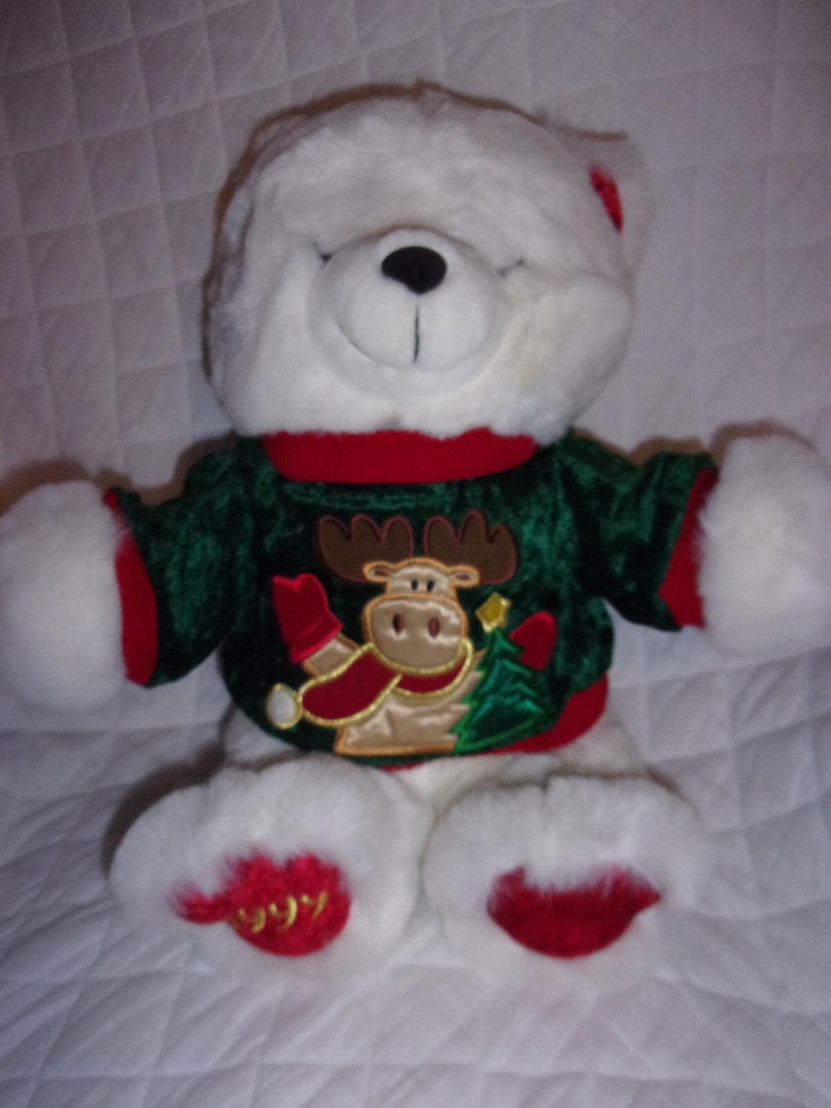 1999 Main Joy Holiday 1999 Teddy Bear Moose 18  Plush Soft Toy Stuffed Animal