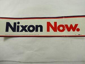 Nixon-Ahora-Original-Periodo-Grande-Vinilo-Pegatina-Parachoques-8-3cm-x-35-6cm