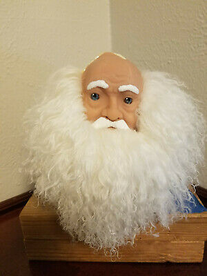 Mangelsens Porcelain ish Santa Claus Molded Doll Head with beard and hands