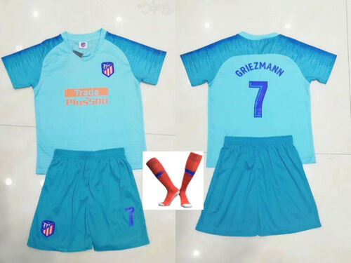 UK Kids Boys Football Club Soccer Kits Short Sleeve T-shirt Shorts Set Jersey