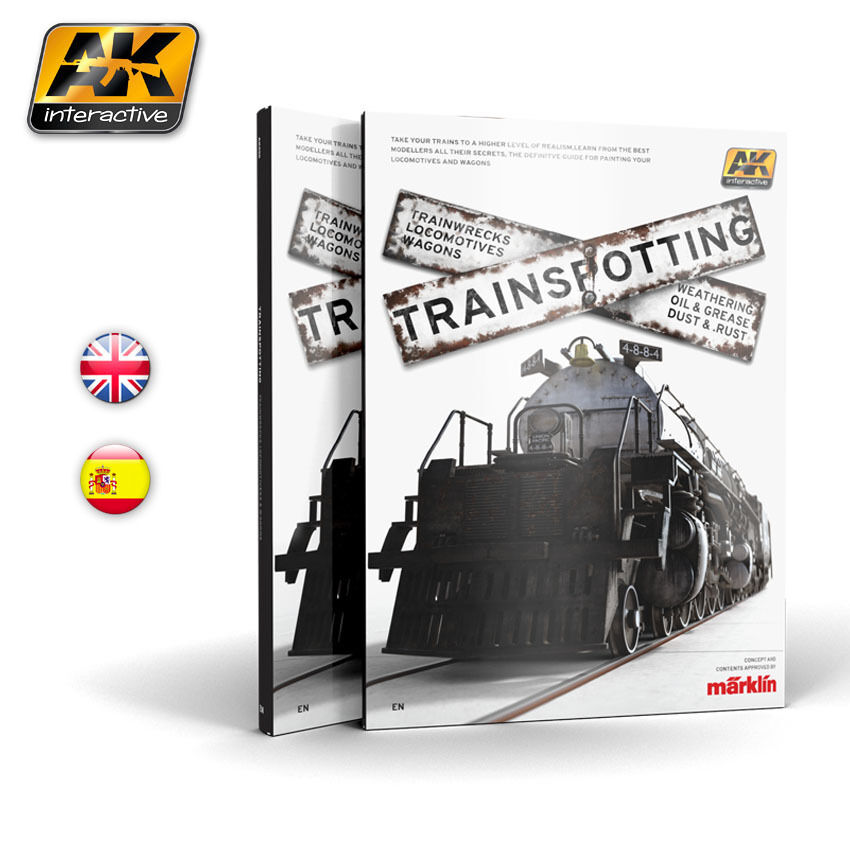 AK-Interactive Trainspotting -  for Scale Railway Modellers (English, 208 pages)