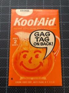 VINTAGE 1960's KOOL-AID FULL PACK Sealed Mip ORANGE FLAVOR Store stock GAG TAG !