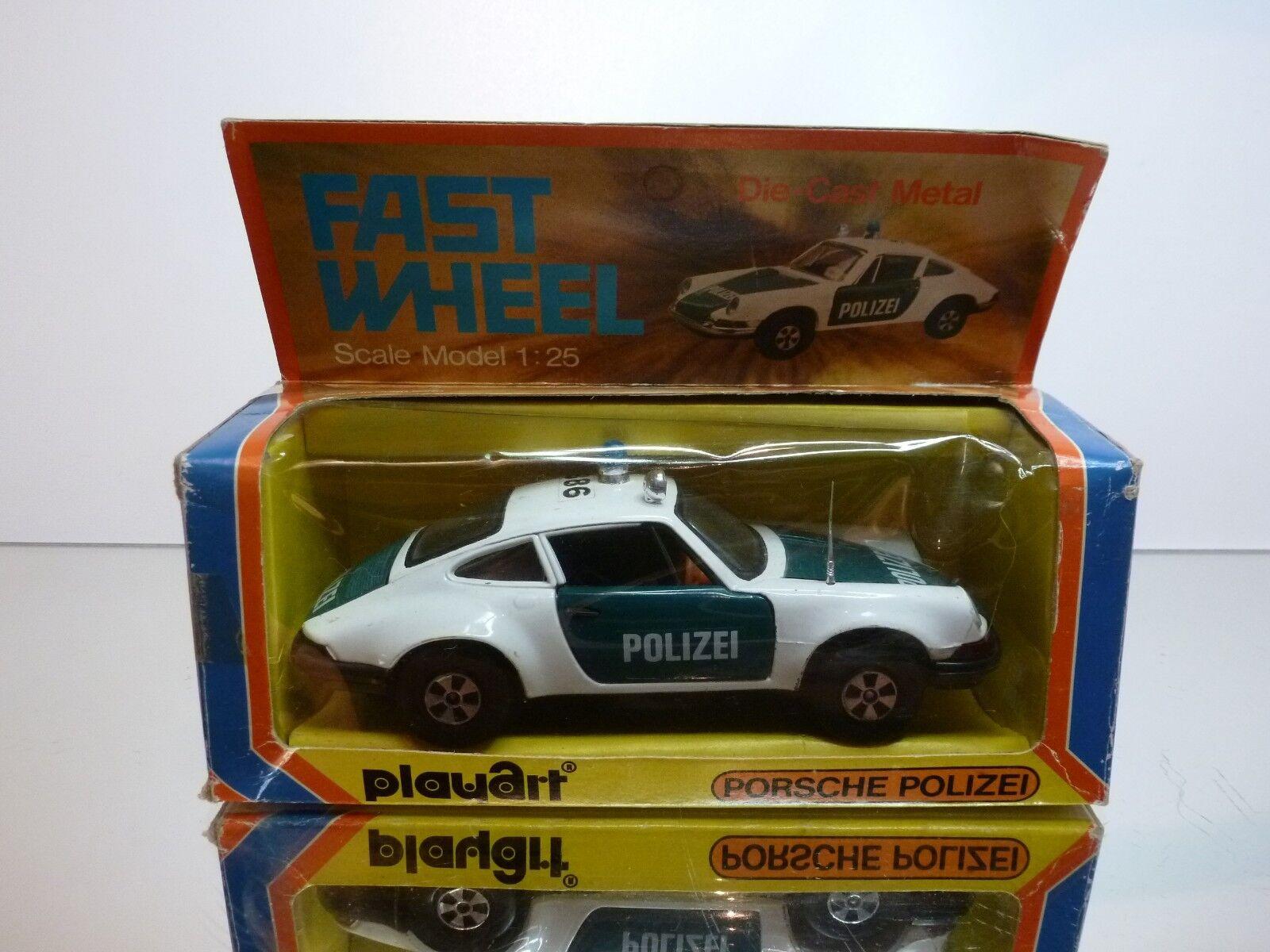 PLAYART 7902A PORSCHE 911 POLIZEI  - blanc + vert 1 25 - GOOD CONDITION IN BOX  les dernières marques en ligne