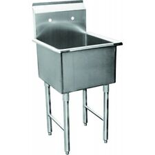 1 Compartment Prep Sink 24x24 Stainless Steel Nsf