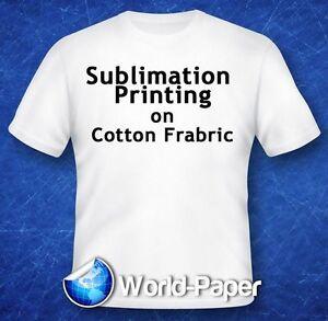 "Sublimation Printing on Cotton T-Shirts Light Heat Press *YL* 11"" x 17"" 10Pk :)"