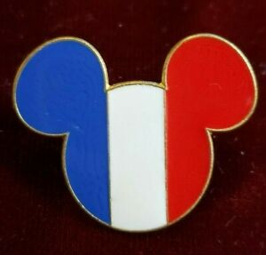 Disney-Trading-Pin-Mickey-Mouse-Head-amp-Ears-France-Flag