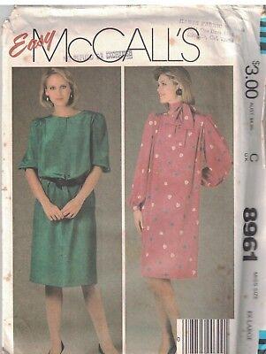 UNCUT Simplicity Pattern 7584 Misses Spring Summer Pullover Dress Sewing OOP SEW