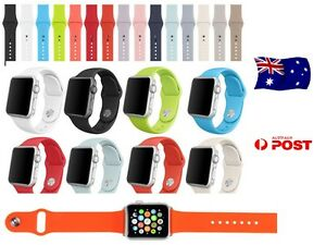 For-Apple-Watch-Replacement-Silicone-Sports-Band-Series-3-2-1-Glass-protector