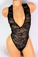 Victoria's Secret Lingerie Teddy Bodysuit Black Lace S269