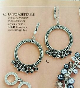 Details About Premier Designs Jewelry Unforgettable Crystals Beads European Wire Earrings