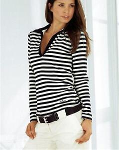 Nuevo-Lang-negligencia-polo-gomas-camisa-talla-32-34-Boysen-039-s-negro-wollweiss-748481
