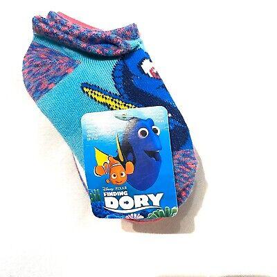 Toddler Disney Finding Dory Nemo Marlin Polka Dot No Show Socks 5pk Sz 5-6.5