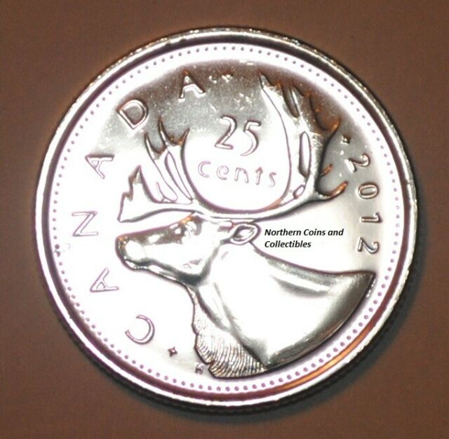 Canada 2012 25 cents Nice UNC from roll - BU Canadian Quarter