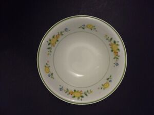 """Noritake Versatone Lineage B306W12 coupe cereal Bowl green yellow floral 6.5"""""""
