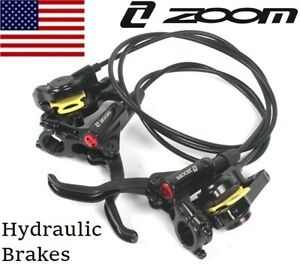 ZOOM-MTB-XC-FR-Bike-Brake-lever-Calipers-Hydraulic-Disc-Brakes-Front-Rear-Black