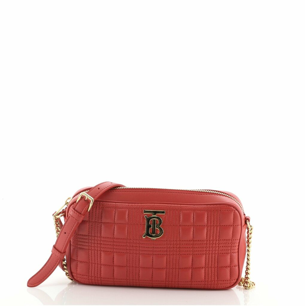 Burberry Chain Camera Bag Quilted Leather Mini  | eBay