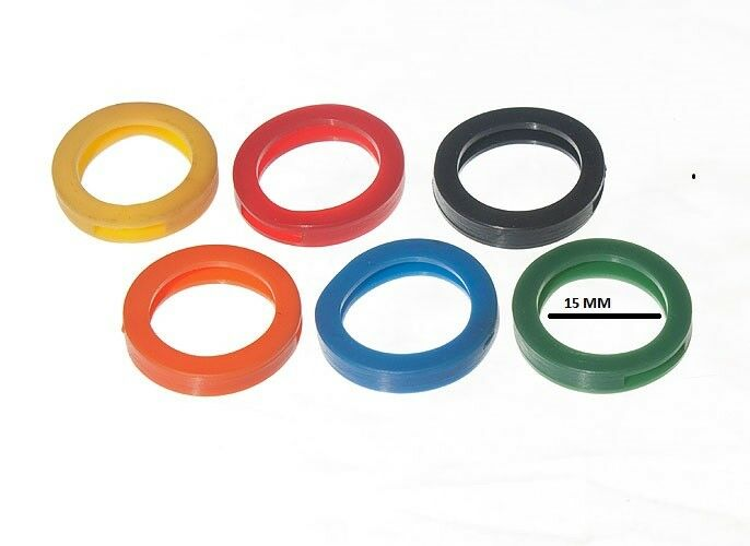 2000 X plastic key identifiers assorted colours