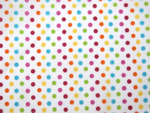 Rainbow Spot Print Polycotton Dress Fabric Design-1714-Primary-M