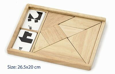 Wooden TANGRAM Puzzle SET Educational BRAINTEASER Educational Children's TOY