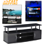 tall tv stand console cabinet entertainment center for tv up to 50 inc blackwood