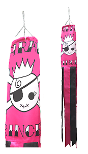 Pirate Princess Pink Flag Super 5' Windsock