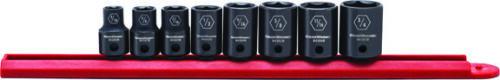 "3//8/"" Drive 6 Point SAE Impact Socket Set KDT-84910N Brand New! 8 Pc"