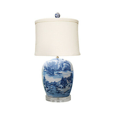 Blue And White Willow Porcelain, Blue Willow Table Lamps