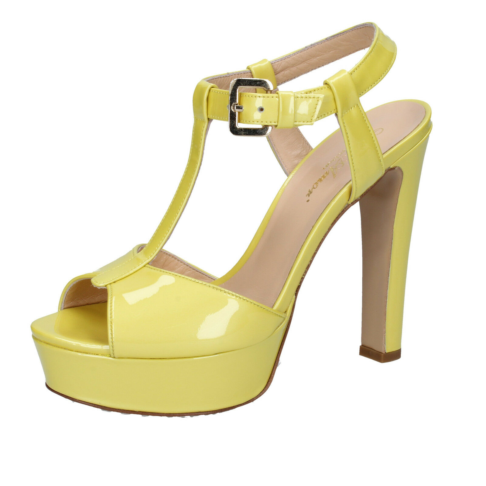 Scarpe donna MI AMOR 41 EU sandali giallo vernice BY164-F