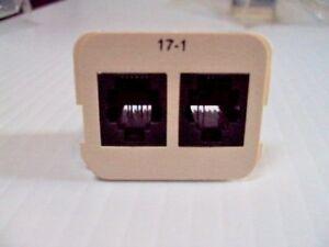Tyco Electronics 555617-1 Modular Jack Dual Insert LOT of 6 AMP