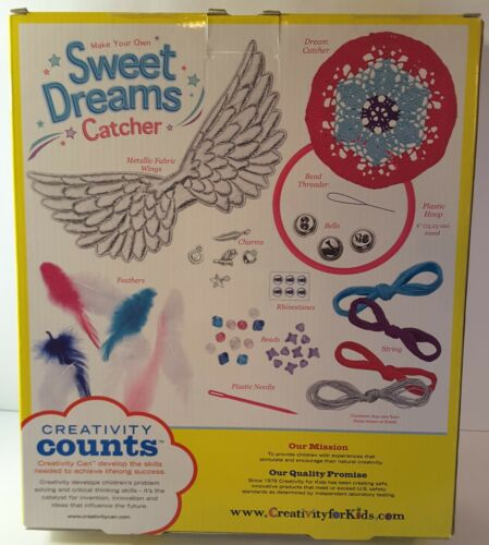 Creativity for Kids Make Your Own Sweet Dreams Catcher Weaving Kit New